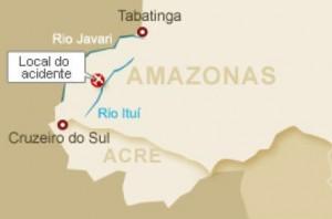Absturz-Amazonas