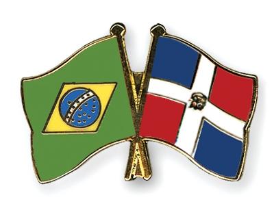 Freundschaftspins-Brasilien-Dominikanische-Republik
