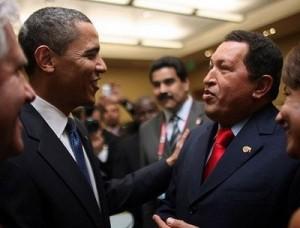 Obama und Chavez