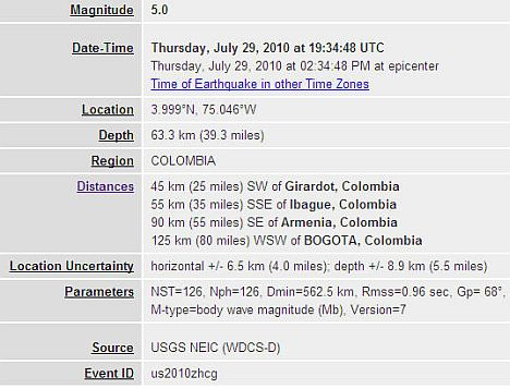 earthquakecolombia