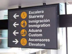 ImmigrationCustomsAirportSign