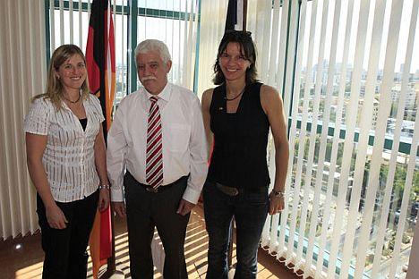 Charmaine Reid, Botschafter Christian Germann und Nicole Grether