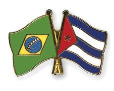 Freundschaftspins-Brasilien-Kuba