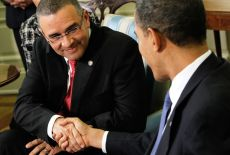 Obama Meets With President Funes Of El Salvador