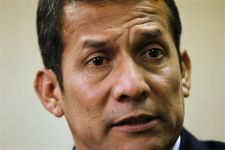 Peru's newest elected President Ollanta Humala talks to Reuters during an interview in Lima