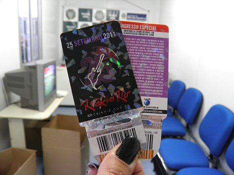 Täuschend echt aber doch gefälscht: Eintrittskarten für Rock in Rio