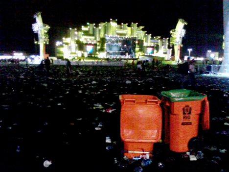 Müll auf dem Festivalgelände