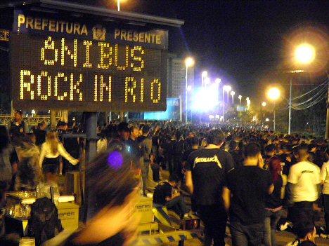 Rock in Rio - Besucher bei der Heimreise