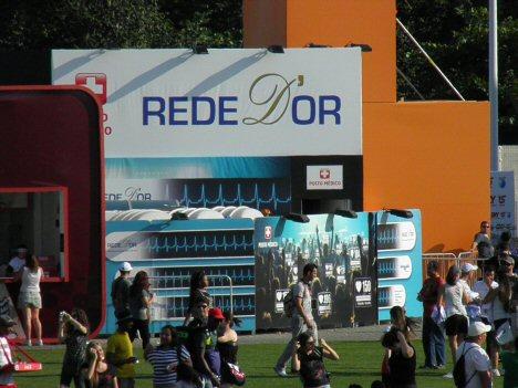 Sanitäts-Posten in der Cidade do Rock