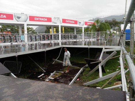 Cidade do Rock, Einsturz von Plattform