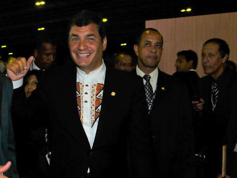 Rafael Correa - Rio+20 (Foto: Marcello Dias / Agência O Repórter)
