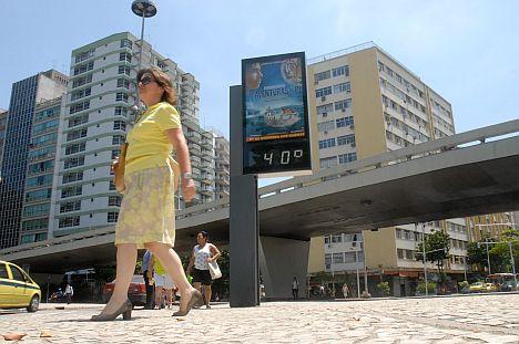 Termômetros no Rio de Janeiro  chegam a 40 graus