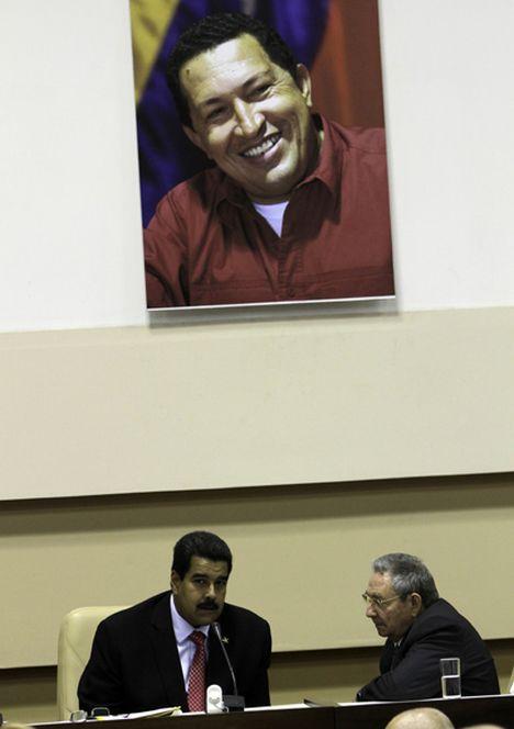 Presiden Raúl Castro y Nicolás Maduro, calusura de la Comisión I