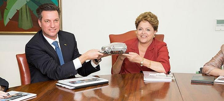 Thomas Schmall mit Präsidentin Rousseff