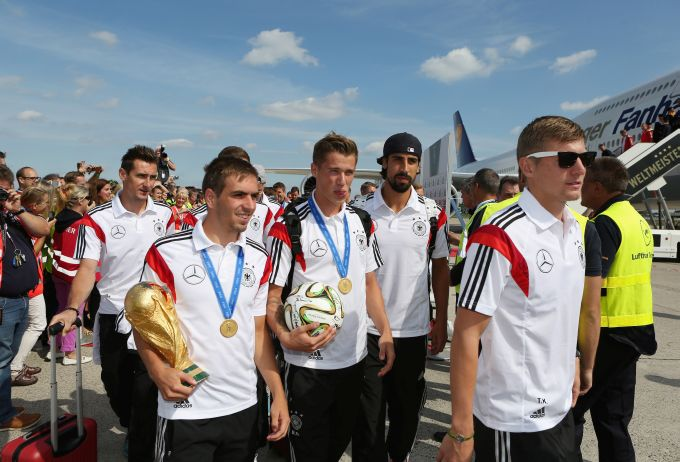 Team Germany Arrives At Berlin Tegel