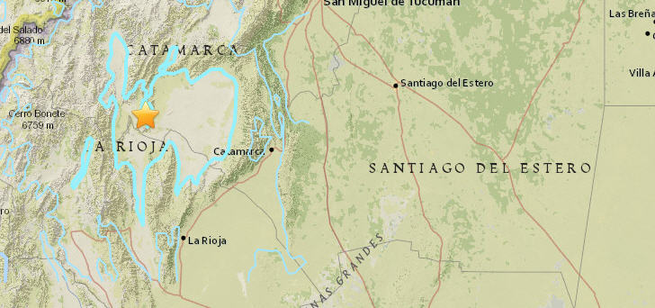 Epizentrum des Bebens (Grafik: Earthquake)