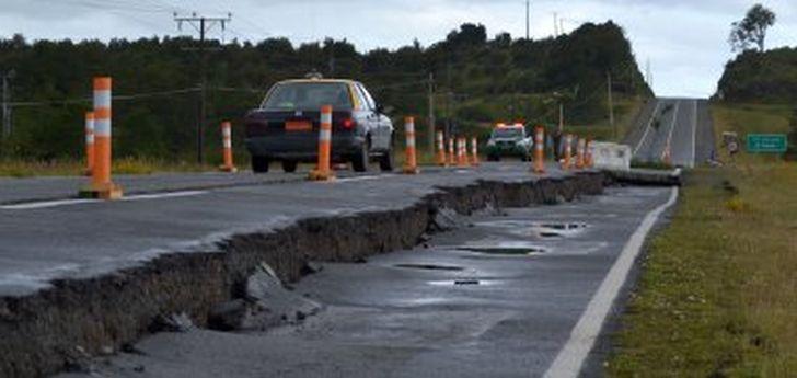 Die stärksten Schäden an der Infrastruktur (Straßen, Brücken) gab es auf der Isla de Chiloé