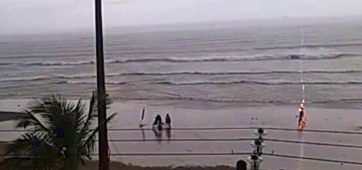 Die 25-Jährige Taline Campos befand sich während des Gewitters mit mehreren Personen in direkter Nähe zum Meer
