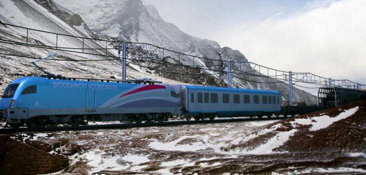 Bi-Ozeanischer Eisenbahnzug stellt ein vorrangiges Projekt da