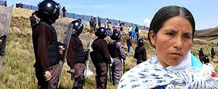 Máxima Acuña de Chaupe kämpft seit Jahren gegen das Minenunternehmen Yanacocha