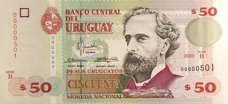 Die Noten im Nennwert von 50 Pesos sind nach Angaben der Zentralbank wasserresistent