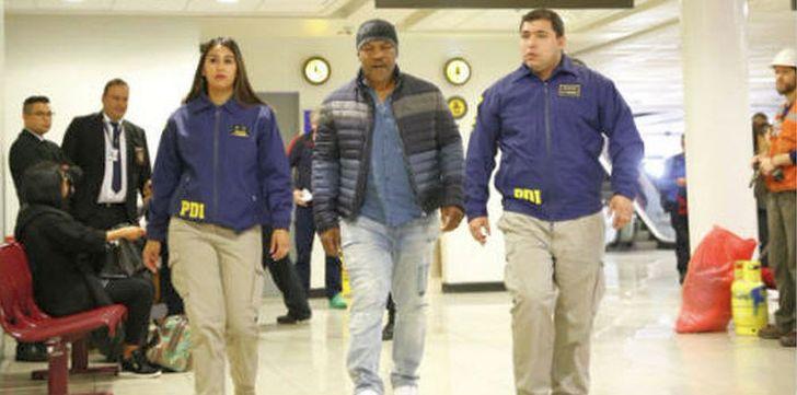 Mike Tyson am Flughafen in Chile verhaftet und abgeschoben