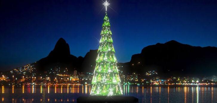 Weihnachtsbaum in rio de janeiro